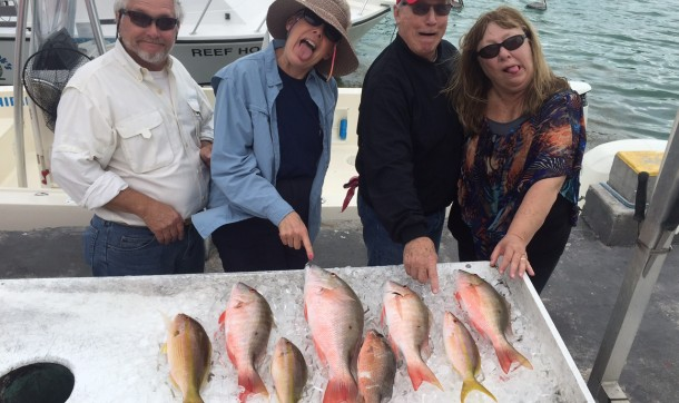 The laughing Linda's and their men.  Tough conditions led to fun fishing in a late rally