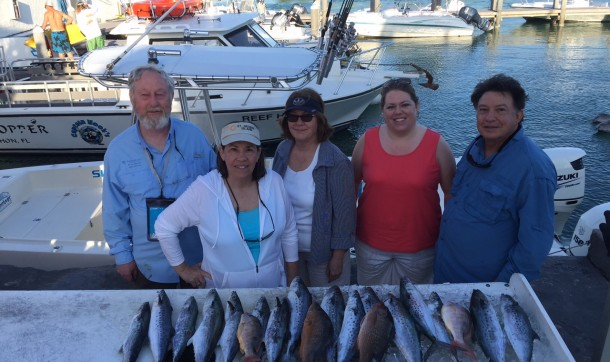Nice catch from the bay for this group of friends