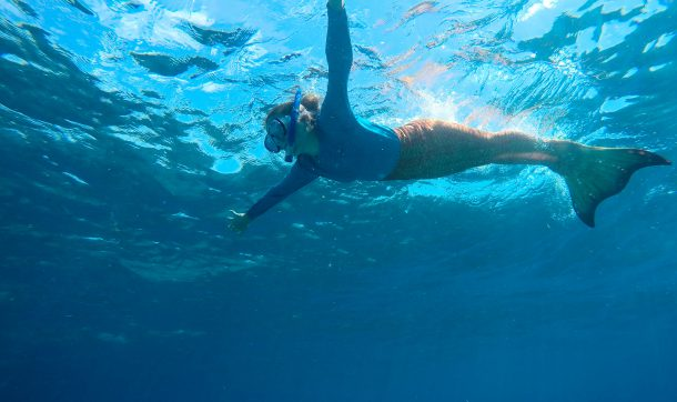 Mermaid Tails can be added to Snorkel Trips!
