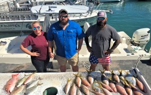 """A great """"reef sampler"""" half day catch"""