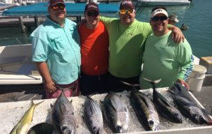 Just the bigger fish form an outstanding offshore day of fishing.  We came in when there was no more room in the fish box!